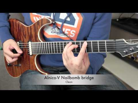 BKP Tutorial: Ceramic vs Alnico V magnet in a bridge humbucker