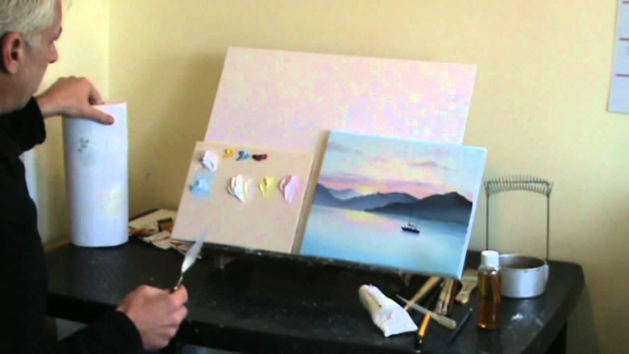 Live Online Art Classes Webinar - Oil Painting Sunset Pt1 ...