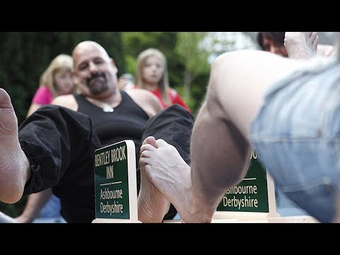 TOE WRESTLING Is A Real Sport In England | What's Trending Now!