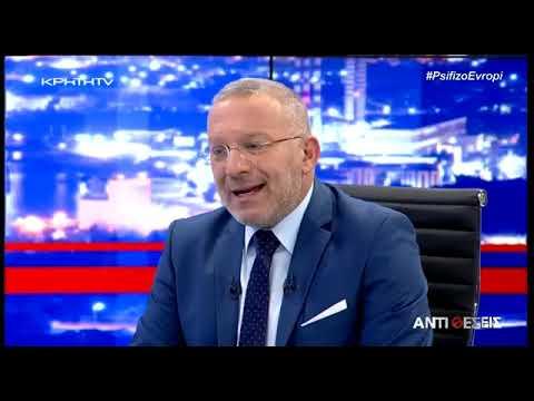 Δημοσθένης Δαββέτας εφ όλης της ύλης στον Κρήτη TV (Αντιθέσεις με το Γιώργο Σαχίνη, 23-4-2019)