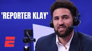 The best of Klay Thompson's hilarious sideline reporting debut | NBA on ESPN