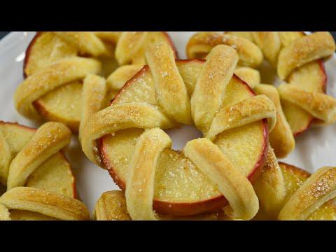 Быстрая идея к чаю! Нежная вкуснятина из яблока со слоеным тестом! Ваши близкие будут в восторге!
