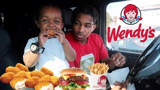 WENDY'S MUKBANG WITH 2 YEAR OLD!! (I got baby fever)