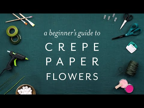 Join Our Master Class! A Beginner's Guide to Crepe Paper Flowers