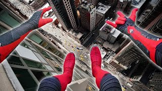 Spiderman Parkour POV - Late For A Date
