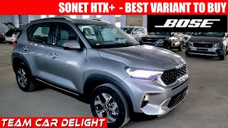 Kia Sonet HTX Plus - Detailed Review with On Road Price, Features | Sonet 2020 | Petrol | Diesel
