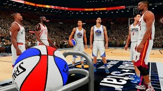 NBA 2K16: 2016 Three Point Contest! Curry, Thompson, Harden, Lowry, Bosh, Redick! [PS4]