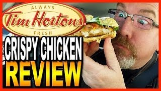 Tim Hortons ★ Tims Crispy Chicken Sandwich Food Review