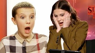 Watch Millie Bobby Brown React to Her FIRST Stranger Things Interview!