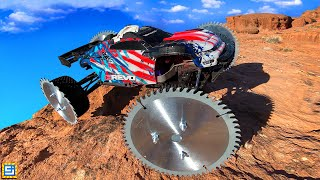 Can This RC Truck Drive on Custom Saw Blade Reaper Wheels?