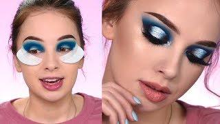 Recreating The Look | Dramatic Blue smokey Eye Makeup Tutorial