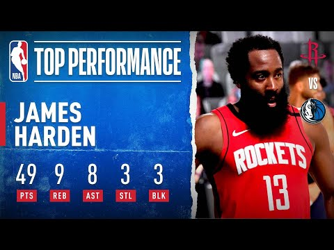 James Harden Pours In 49 PTS, 9 REB, 8 AST, 3 STL & 3 BLK!
