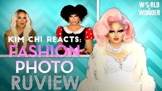 """Kim Chi reacts to Fashion Photo RuView """"Boot"""" from RuPaul's Drag Race Season 8 Episode 8"""