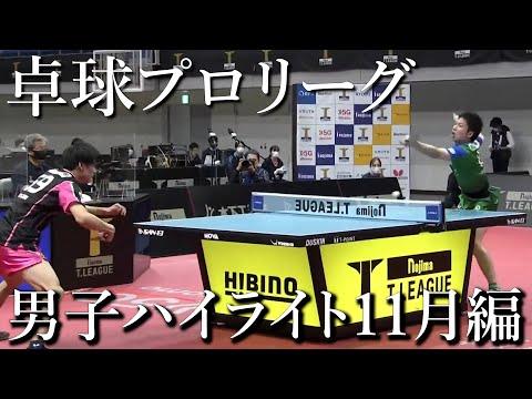 【卓球/Tリーグ】2020年11月 男子ハイライト8試合【琉球アスティーダ】