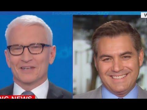 Jim Acosta & Anderson Cooper hilariously mock Trump over Greenland