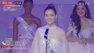 Á hậu Tường San xuất sắc lọt Top 8 Hoa hậu Quốc tế 2019 (Miss International)