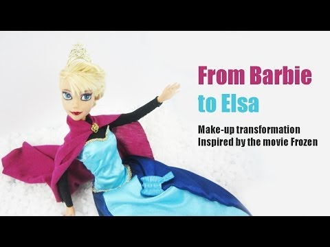Doll makeup transformation: From Barbie to Disney s Frozen E