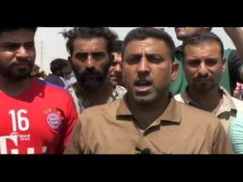 التظاهرات العراقية باتساع مستمر والمتظاهرون يحرقون صورة الخميني