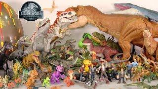 My HUGE Jurassic World Movie Dinosaur Toys Collection: 100+ Toy Dinosaurs + Surprise Dino Egg
