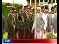 PM Modi accorded ceremonial welcome in Kathmandu