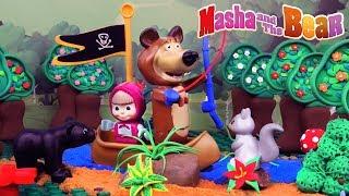 ♥ Masha and the Bear SPRING Adventures (Food Poisoning, Banana BBQ, Strange Garden...)