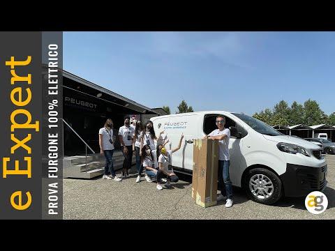 PEUGEOT eEXPERT TEST DRIVE e CARICO furg …