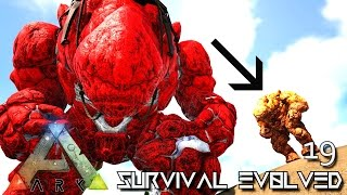 ARK: SURVIVAL EVOLVED - BABY ROCK ELEMENTAL BREEDING ROCK GOLEM !!! E19 (MODDED ARK PUGNACIA DINOS)