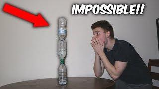 LANDING THE IMPOSSIBLE WATER BOTTLE FLIP! (Crazy water bottle flips)