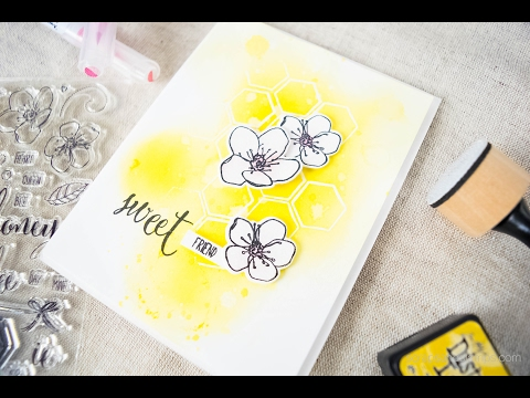 Sweet Friend Card w/ Honey Bee Stamps