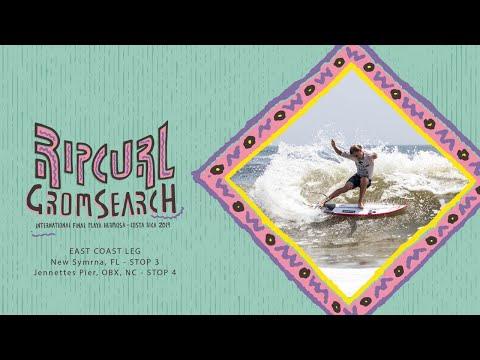 2019 Rip Curl GromSearch Stops 3 & 4 - East Coast Tour (New Symrna, FL & Jennette's Pier, NC)