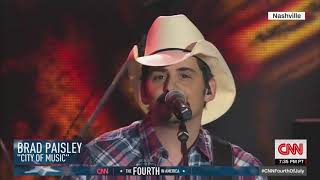 """Brad Paisley performs """"City of Music"""" on 4th of July in Nashville"""