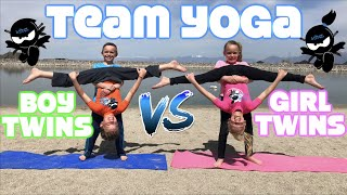Boy Twins vs Girl Twins - Team Yoga