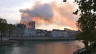 Notre Dame blaze collapses cathedral's spire
