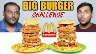MCDONALD'S BIG BURGER EATING CHALLENGE | McDonald's Big Mac Eating Competition | Food Challenge