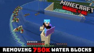 Removing 750k water blocks in Hardcore Minecraft - The Loony Adventure E19