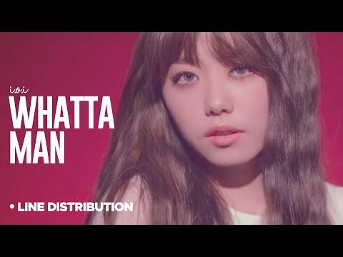 I.O.I - Whatta Man: Line Distribution