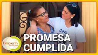Francisca Lachapel cumple la promesa de una casa de ensueño para su mamá