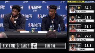 Joel Embiid and Jimmy Butler Game 6 Press Conference