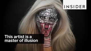 This makeup artist is a master of illusion