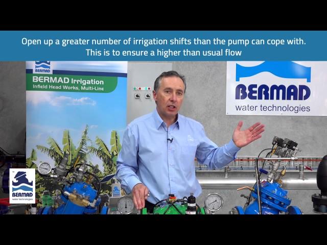 Válvula sustentadora de pressão Bermad 430 – Demonstração prática