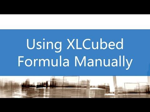 Using XLCubed Formula Manually