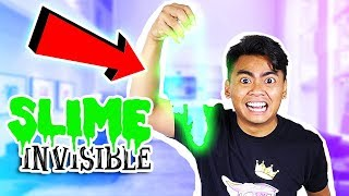 How To Make INVISIBLE SLIME! (No Borax)