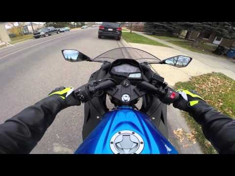 Motorcycle road test in Canada