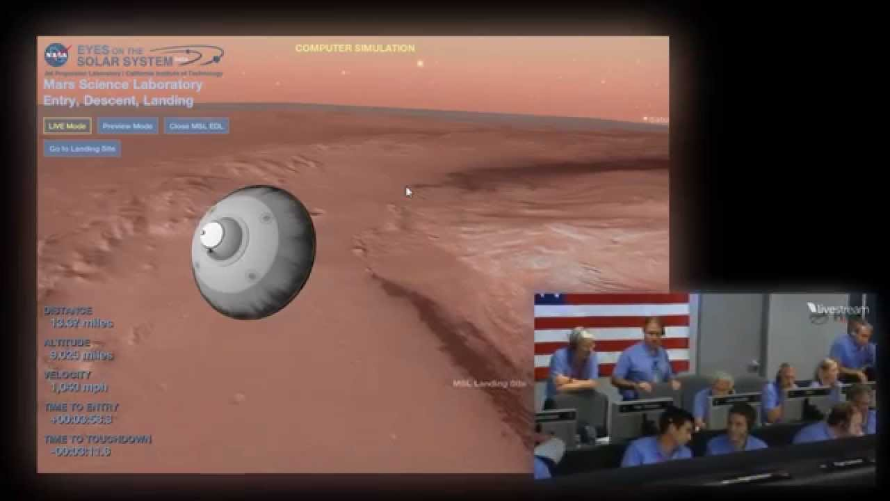 mars curiosity landing simulation - photo #1