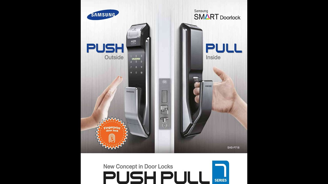 Samsung Door Locks Shs P718 Exclusive To Overseas Agent