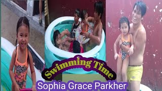 SOPHIA GRACE PARKHER'S THROWBACK swimming time