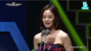 151009 용팔이 Yong Pal 장혁린 김태희 Kim Tae Hee cut @ 2015 Korea Drama Awards