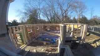 Framing the Garage - 8 hours in 3 minutes