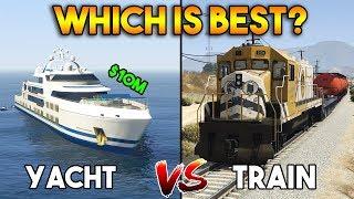 GTA 5 ONLINE : TRAIN VS YACHT (WHICH IS BEST?)
