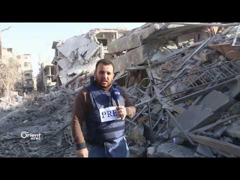 كاميرا أورينت نيوز تدخل الأحياء المحررة حديثاً في حرستا